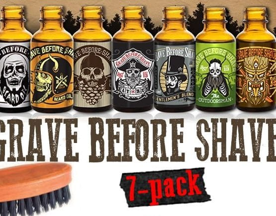 Coffret 7 huiles à barbe grave before shave